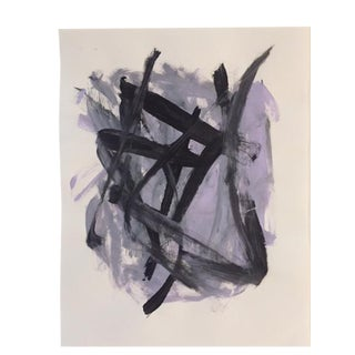 """""""Abstract Purple"""" Original Painting by Tony Curry"""