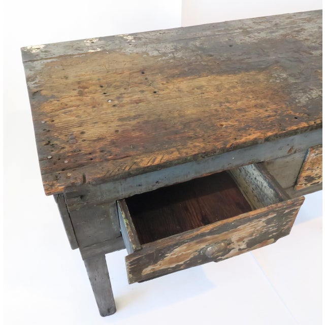 Rustic Wood Work Table - Image 6 of 8