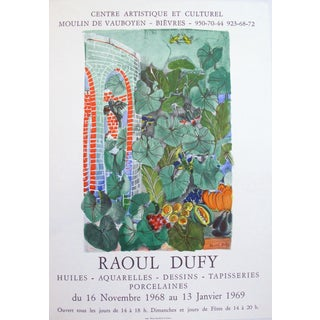 1968 Raoul Dufy Exhibition Poster, Birds in Garden