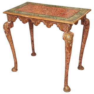 Faux Marble Late Baroque Style Console Table