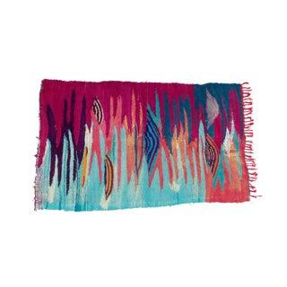 'Palm Desert Sunset' Moroccan Flat Weave Boucherouite Rug - 3′9″ × 7′