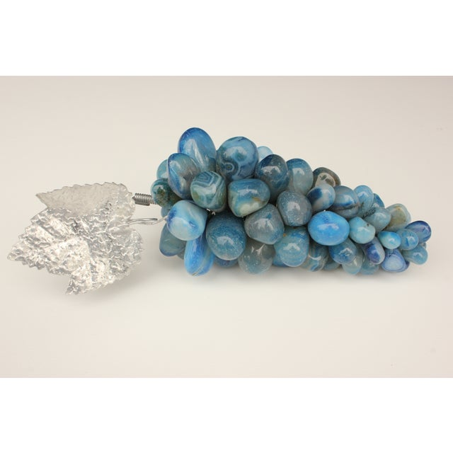 Blue Agate Stone Grapes - Image 3 of 5