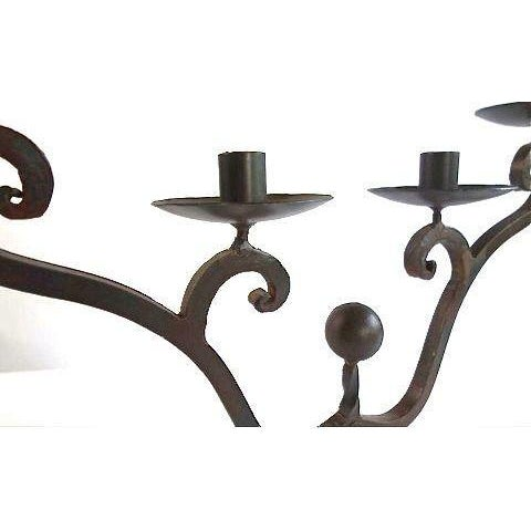 Image of 4-Arm Curvy Metal Candelabra