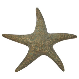 Vintage Large Brass Starfish