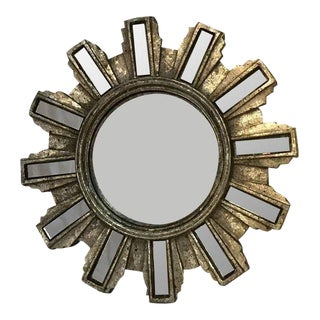 Antiqued Silver Regency Sunburst Mirror