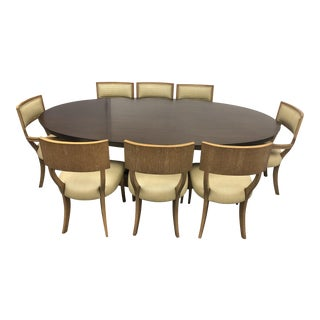 Michael Berman Mansfield Table & 8 Klismos Chairs - Set of 9