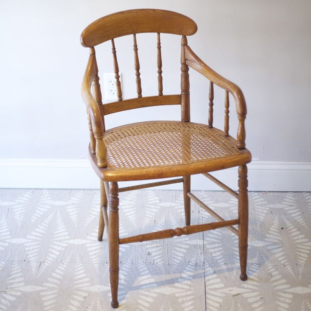 Cane Arm Chairs - a Pair - Image 3 of 4