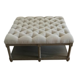Lorraine Square Upholstered Cocktail Table