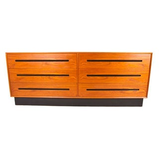 6 Drawer Danish Modern Teak Low and Wide Dresser
