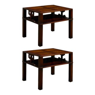 Fabulous Pair of Heritage Henredon End Table/ Night Stands in Flame Mahogony