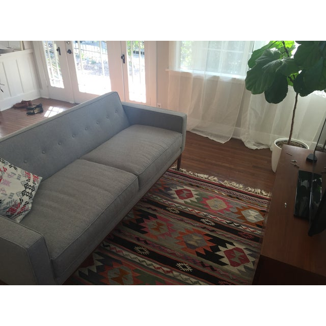 Brand New Mid Century-Inspired Custom Gray Sofa - Image 3 of 5