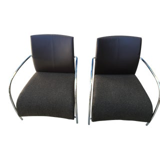 Montis Lomas Plum-Colored Chairs - A Pair