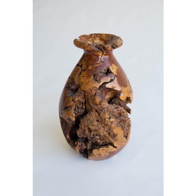 Turned Burl Wood Vase - Image 4 of 10