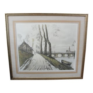 Vintage Color Etching English Road by Robertson