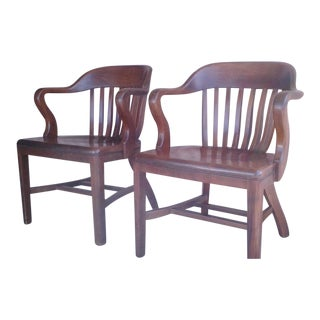 """Original Mid-Century """"Sikes"""" Court Room Chairs - Pair"""