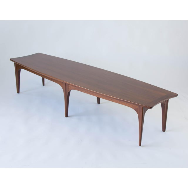 American Walnut & Rosewood Surfboard Coffee Table - Image 2 of 7