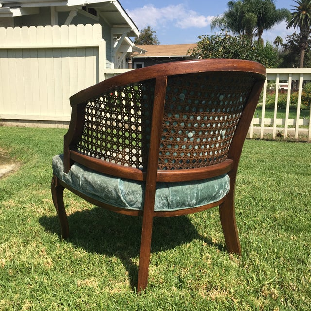 Mid-Century Cane Barrel Chair - Image 5 of 11