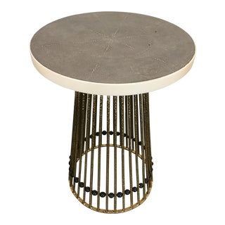 Mid-Century Style Shagreen Occasional Table
