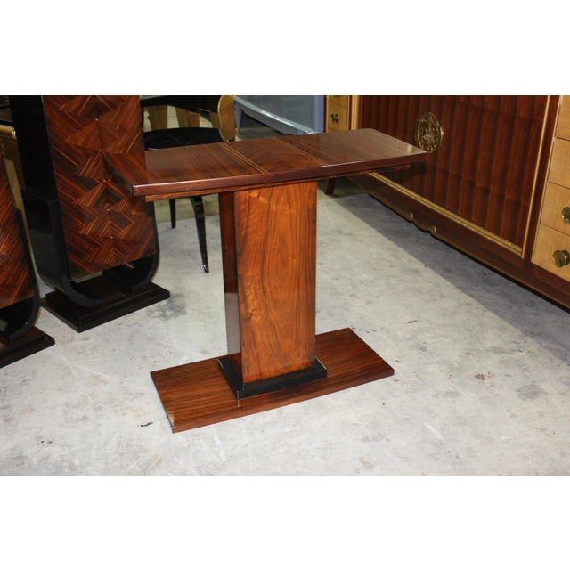 French Art Deco Palisander Console Table - Image 9 of 10