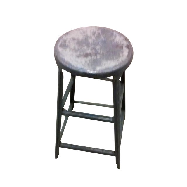 Image of Antique Industrial Metal Stool