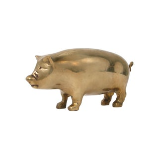 Brass Pig Figurine