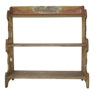 Victorian Rustic Painted Wall Shelf Unit