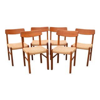 Vintage Mid Century Modern Teak Dining Chairs - Set of 6