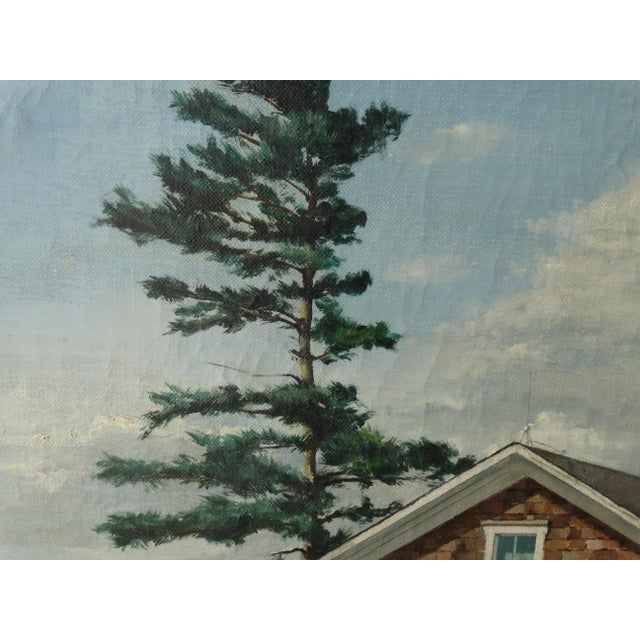 Vintage Landscpe Oil Painting by Russell - Image 7 of 10