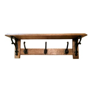 Natural Wood & Wrought Iron Shelf