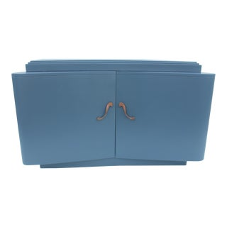 James Mont Style Blue Lacquered Dresser