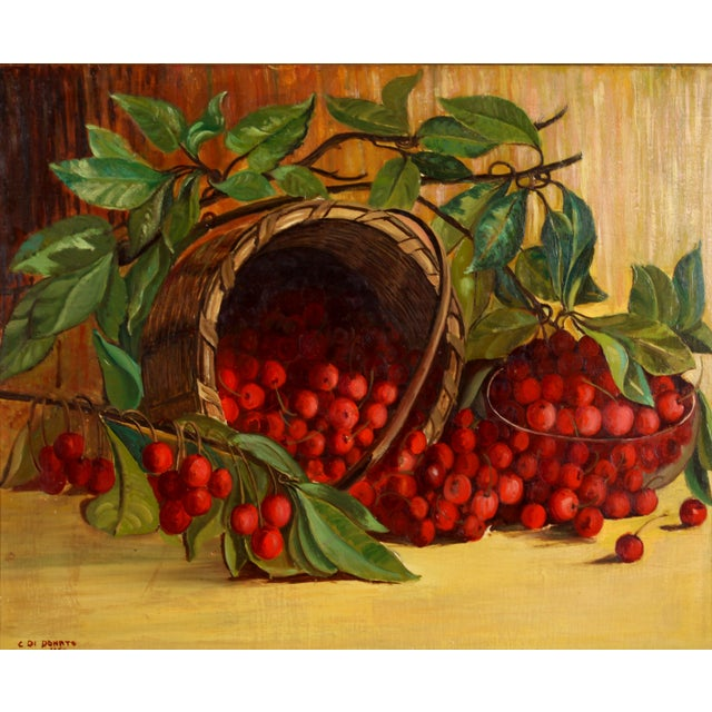 "Donato ""Cherries"" 1950 Painting - Image 2 of 7"