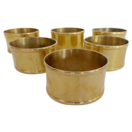 Brass Oval Napkin Rings - Set of 6 - Image 1 of 5
