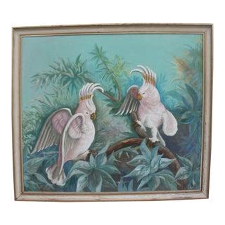 1942 Oil On Canvas Cockatoo Painting
