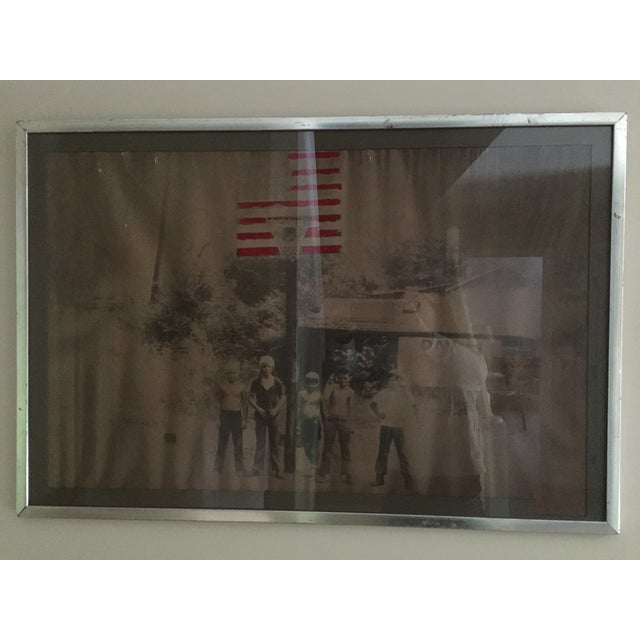 American Boys in the 70's Framed Painted Photo - Image 2 of 4