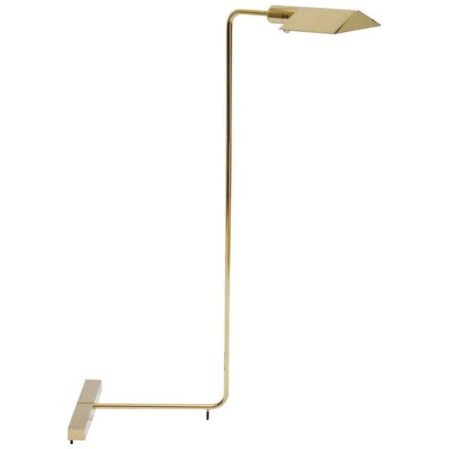 Cedric Hartman Polished Brass Reading Lamp - Image 1 of 8