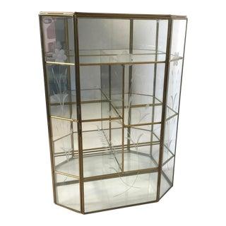 Brass & Glass Mirrored Curio Box
