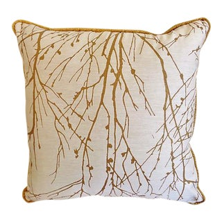"Custom Made Larsen Wintertree II Abstract Nature Scene Pillow - 18"" x 18"""
