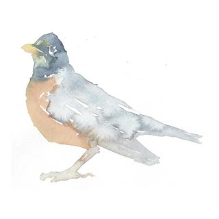 Robin 3 Original Watercolor Painting