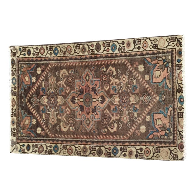 Vintage Hamadan Persian Rug - 1′11″ × 2′11″ - Image 1 of 9