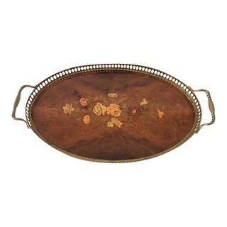 Vintage Inlaid Marquetry Italian Tray