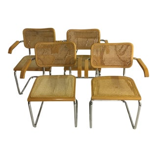 Cesca Style Cane Chairs - Set of 4