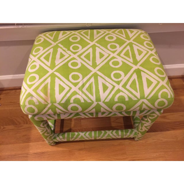 Baughman Style Mid-Century Parsons Ottoman - Image 3 of 8