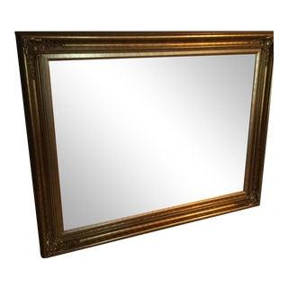 Gilt Frame Beveled Mirror