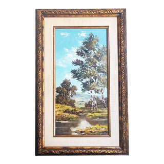 Framed Landscape Oil Painting