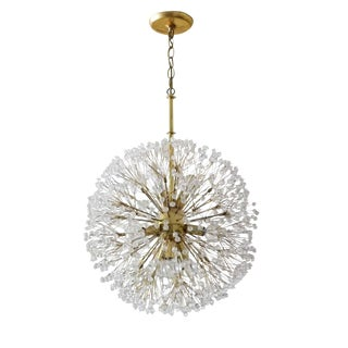 Italian Starburst Chandelier in the manner of Emil Stejnar