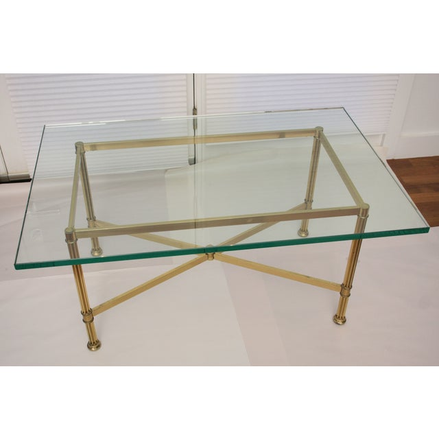 La Barge Style Brass Cocktail Table - Image 4 of 8