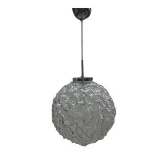 Italian 1970's Glass Ball Pendant Attributed to Mazzega