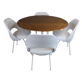 Eero Saarinen for Knoll Dining Table & Chairs -S/5