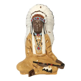 Vintage Ceramic Native American Chief