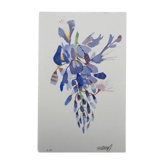 """Steve Klinkel """"Weeping Wisteria 2"""" Original Watercolor Painting"""
